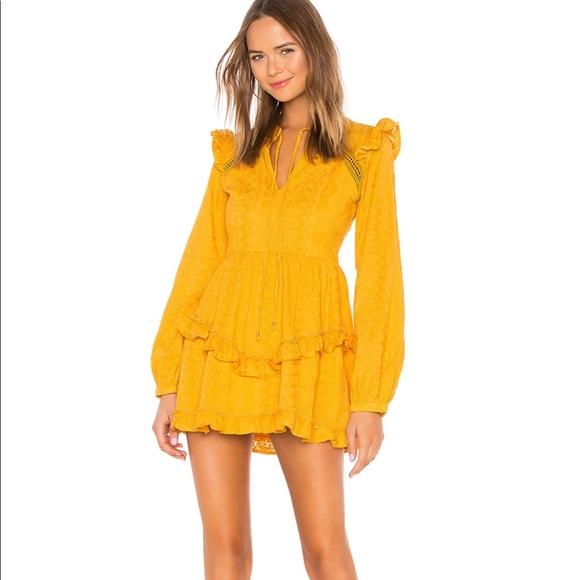 Tularosa Dresses & Skirts - Brand new tularosa mustard mini dress.